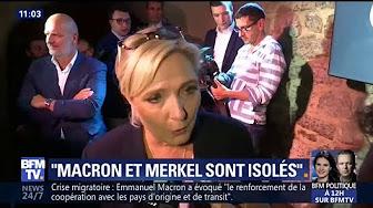 """Invasion migratoire : Marine Le Pen juge Emmanuel Macron et Angela Merkel """"isolés"""" sur la scène européenne"""