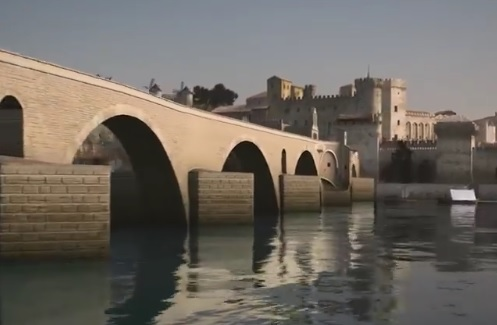 Le Pont d'Avignon entièrement reconstitué en 3D