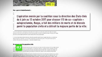 Syrie : Amnesty dénonce les bombardements « disproportionnés » de la coalition