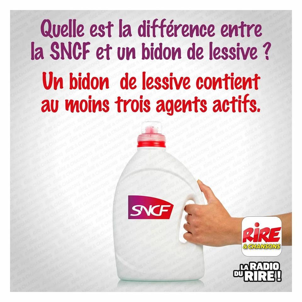 Quelle est la différence entre la SNCF et un bidon de lessive ?