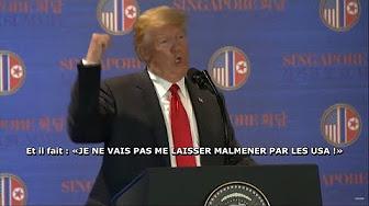 Trump imite Trudeau s'exclamant : « Je ne vais pas me laisser malmener par les USA ! »