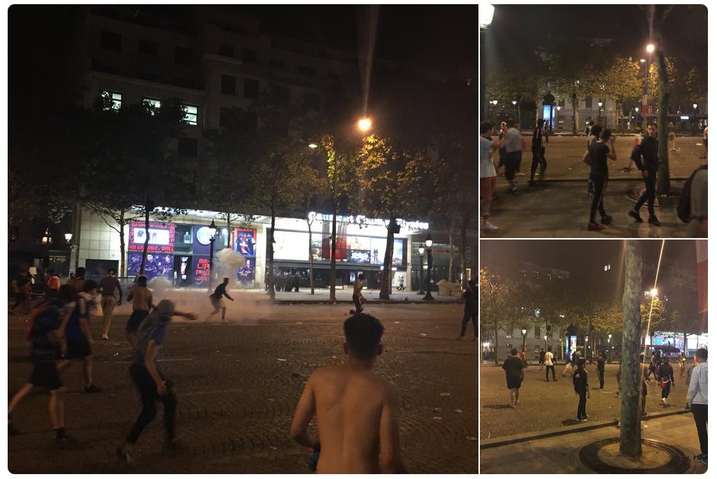 Champs-Élysées : des casseurs d'origine immigrée s'en prennent à la boutique du PSG