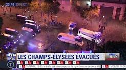Paris : ambiance de fin de fête sur les Champs-Élysées évacués par les forces de l'ordre