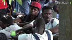 Nantes : évacuation d'un campement de clandestins en plein centre-ville