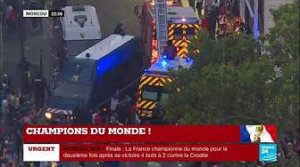 Des échauffourées sur les Champs-Élysées après la victoire des Bleus