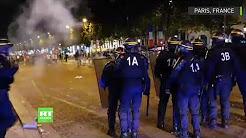 Victoire des Bleus en demi-finale : heurts sur les Champs-Élysées