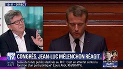 """Discours de Macron au Congrès de Versailles : """"C'est un introït absolument narcissique"""" (Mélenchon)"""