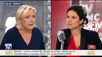 """Marine Le Pen """"votera"""" les motions de censure contre le gouvernement après l'affaire Benalla"""