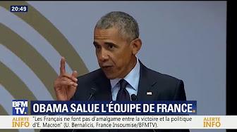 """Obama salue la """"diversité"""" de l'Équipe de France lors d'un hommage à Nelson Mandela"""