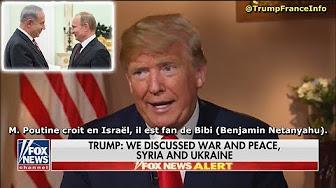 Sommet d'Helsinki : Trump affirme que Poutine est fan de Benjamin Netanyahu