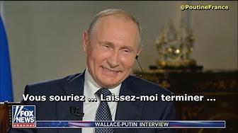 Poutine éclate de rire 😅 alors qu'un journaliste lui tend l'inculpation de Russes (Fox News)