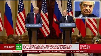 Poutine en conférence de presse avec Trump : « Soros s'ingère partout ! »