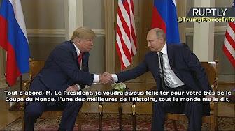 Sommet Helsinki : Trump félicite Poutine pour le succès de sa Coupe du Monde