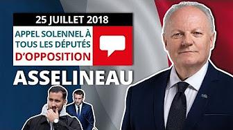 Appel de François Asselineau aux parlementaires d'opposition pour l'engagement de l'article 68 de la Constitution