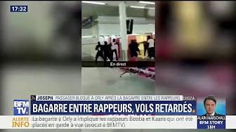"""Bagarre des rappeurs-racailles Booba et Kaaris à Orly : """"Les gens étaient paniqués"""", raconte un passager"""