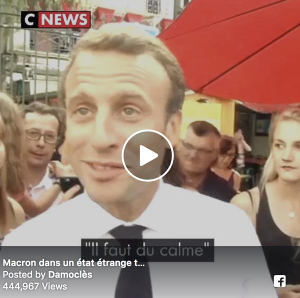Quand Macron essaye d'esquiver une question sur l'affaire Benalla-Macron...