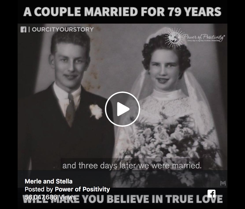 Ce couple marié depuis 79 ans nous parle d'amour, d'amour vrai…