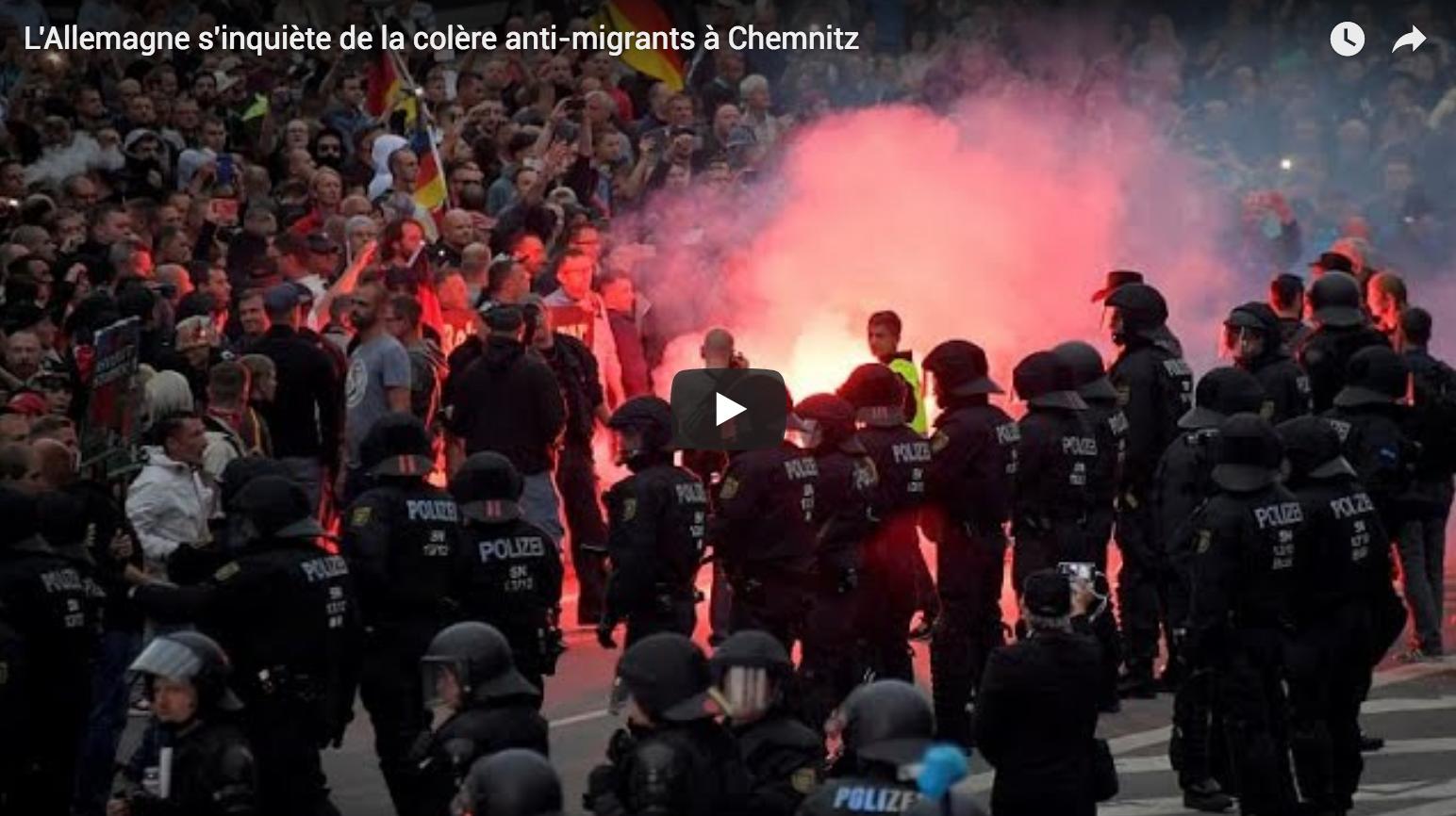 L'Allemagne s'inquiète de la colère anti-migrants à Chemnitz