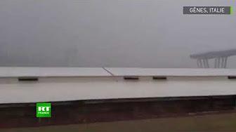 """""""Oh, mon Dieu"""" : l'effondrement du viaduc de Gênes filmé en direct"""