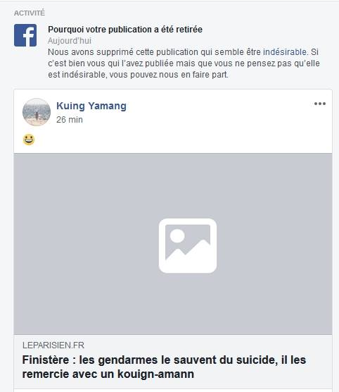 Facebook a la censure facile