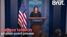 Quand la tension monte entre la porte-parole de la Maison Blanche et un journaliste de CNN (VIDÉO)
