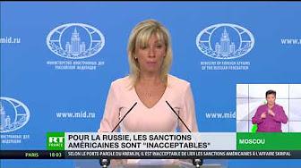 Pour la Russie, les sanctions américaines sont « inacceptables »