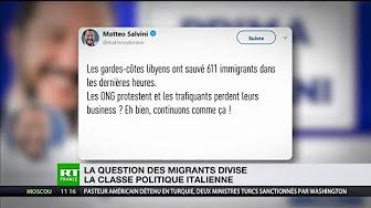 Matteo Salvini se félicite du renvoi des migrants vers la Libye en bateau