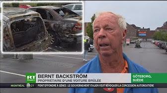 Un Suédois en larmes après l'incendie de son véhicule : « Où va la Suède ? »