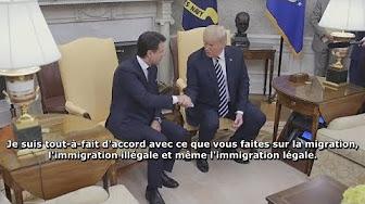 Donald Trump félicite le Premier ministre italien pour sa lutte contre l'immigration