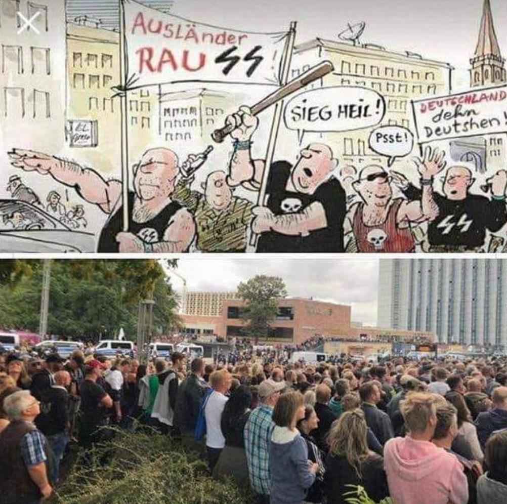 Manifestations de Chemnitz : merdias VS réalité