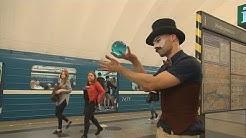 Le jongleur du métro de Saint Pétersbourg