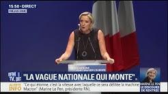 """Élections européennes : Marine Le Pen veut finir """"en tête"""""""