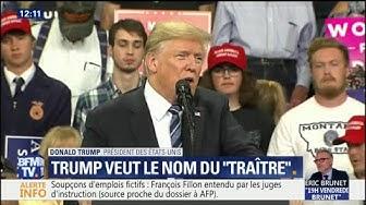 """Tribune anonyme : Donald Trump veut que le """"New York Times"""" révèle le nom """"du lâche"""""""