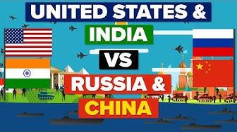 Conflit armé entre les USA + l'Inde et la Chine + la Russie : qui l'emporterait ?