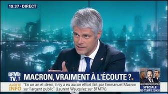 """Laurent Wauquiez : """"Il faut augmenter le temps de travail dans l'administration et dans l'Etat, tout le monde doit passer aux 39 heures"""""""