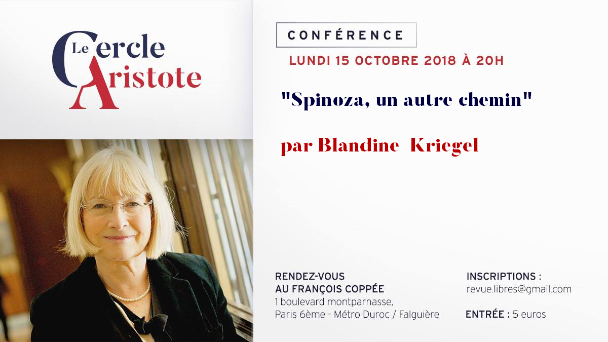 Conférence exceptionnelle de Blandine Kriegel sur Spinoza
