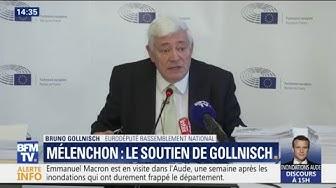"""Gollnisch soutient Mélenchon : """"Il était en colère. Je n'appellerai pas ça une violence inouïe"""""""