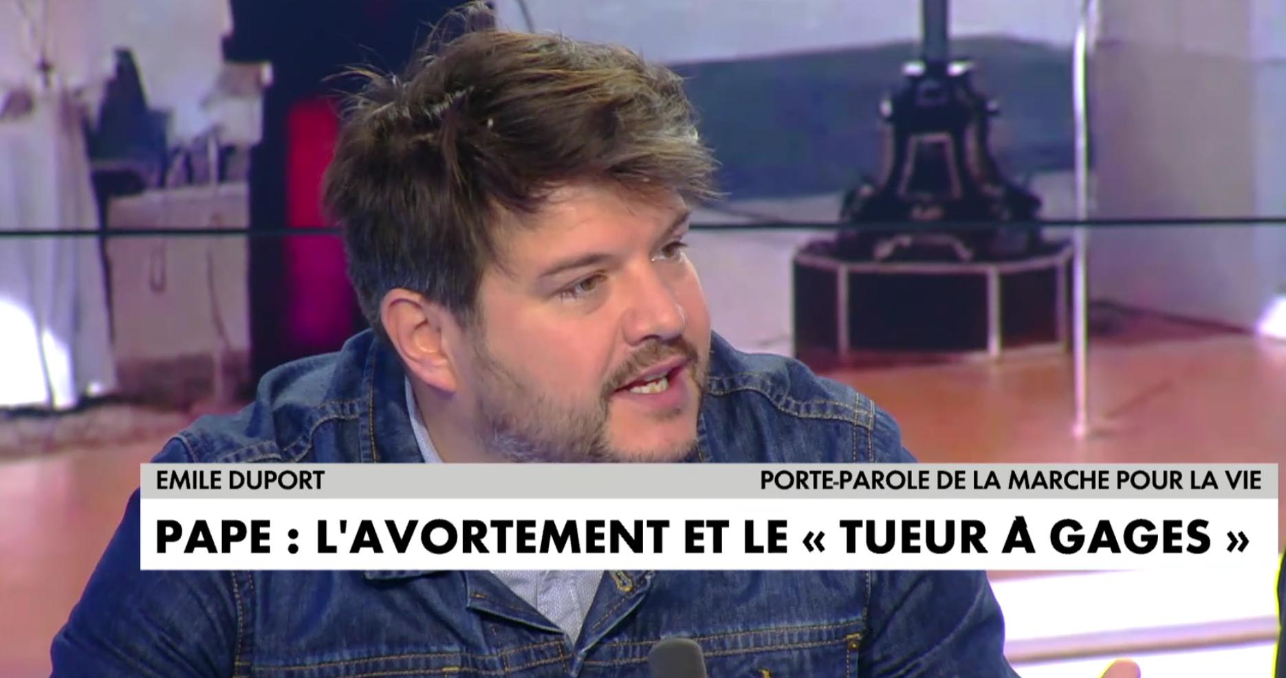 """Avortement : Émile Duport, porte-parole de la Marche pour la Vie, met le feu au plateau des """"Pros de l'info"""" sur CNEWS"""