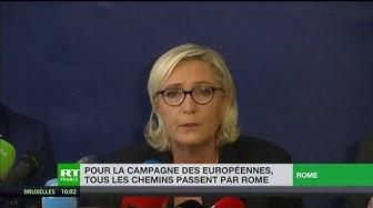 Pour la campagne des européennes, tous les chemins passent par Rome