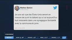 Salvini traite le terroriste de Pittsburgh de « bâtard »