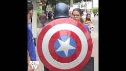 Le phénomène des candidats déguisés en super-héros au Brésil