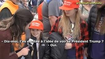Un petit bout de chou et sa famille excités à l'idée de voir Trump en meeting