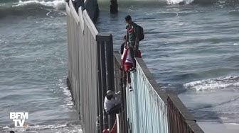"""États-Unis : """"la caravane des migrants"""" du Honduras arrive à la frontière"""