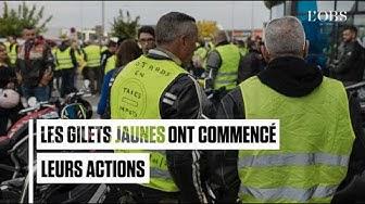 """Énorme ! Sans attendre le 17 novembre, des """"gilets jaunes"""" commencent le blocage des routes"""