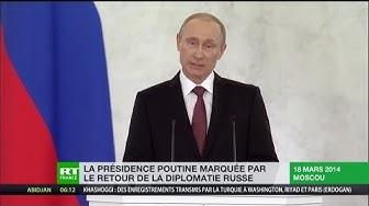 La présidence Poutine marquée par le retour de la diplomatie russe