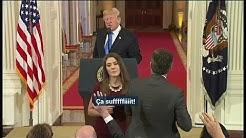 En conférence de presse, Donald Trump démonte une journalope militante de CNN