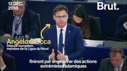 Le député italien Angelo Ciocca brandit un gilet jaune en pleine séance du Parlement européen (VIDÉO)