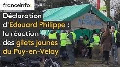 """Déclaration d'Édouard Philippe : """"Il a rallumé le feu, là"""" (un gilet jaune au Puy-en-Velay)"""