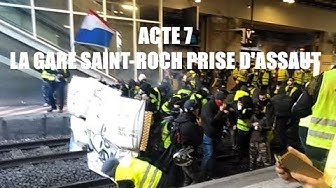 Acte 7 : Affrontements entre gilet jaune et CRS en gare de Montpellier (VIDÉO)