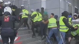 Belgique : des centaines de Gilets Jaunes attaquent le Parlement européen